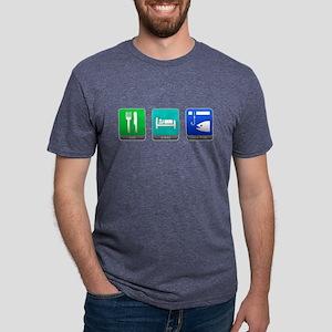 Eat, Sleep, Ice Fish Mens Tri-blend T-Shirt