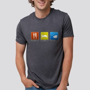 Eat, Sleep, Fish Mens Tri-blend T-Shirt