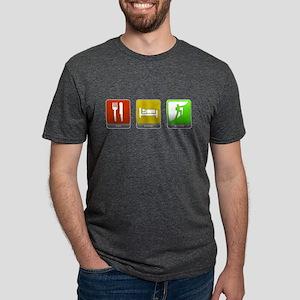 Eat, Sleep, Climb Mens Tri-blend T-Shirt