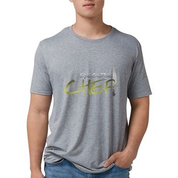 Yellow Executive Chef Mens Tri-blend T-Shirt