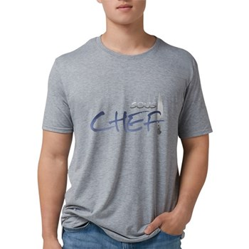 Blue Sous Chef Mens Tri-blend T-Shirt