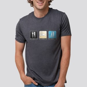 Eat, Sleep, Style Mens Tri-blend T-Shirt