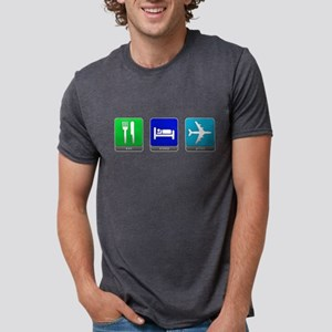 Eat, Sleep, Pilot Mens Tri-blend T-Shirt