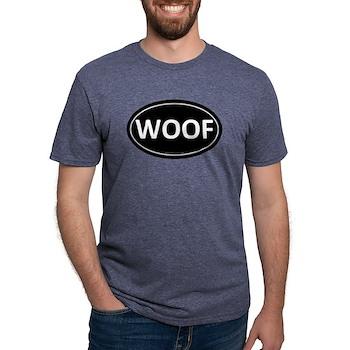 WOOF Black Euro Oval Mens Tri-blend T-Shirt