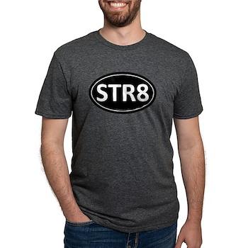 STR8 Black Euro Oval Mens Tri-blend T-Shirt