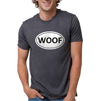 WOOF Euro Oval Mens Tri-blend T-Shirt