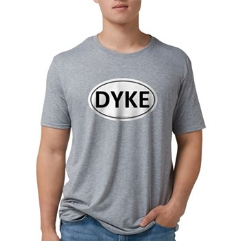 DYKE Euro Oval Mens Tri-blend T-Shirt