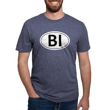 BI Euro Oval Mens Tri-blend T-Shirt