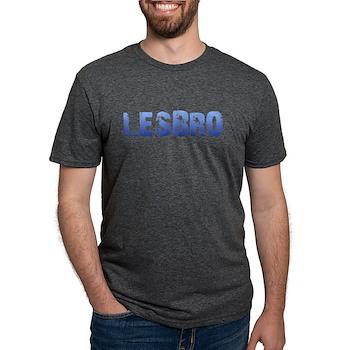 Blue Lesbro Mens Tri-blend T-Shirt