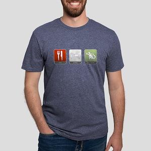 Eat, Sleep, Monster Mens Tri-blend T-Shirt