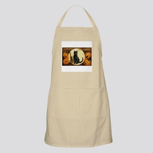 Black Halloween Cat BBQ Apron