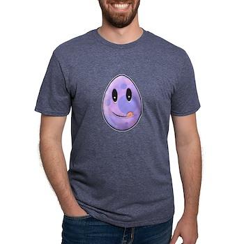 Polka Dot Easter Egg Mens Tri-blend T-Shirt