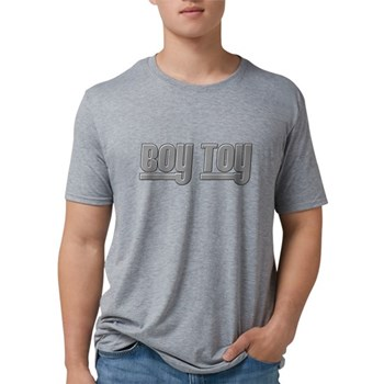 Boy Toy - Gray Mens Tri-blend T-Shirt