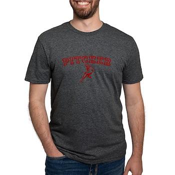 Pitcher - Red Mens Tri-blend T-Shirt