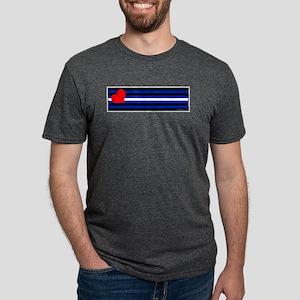 Leather Pride Flag Mens Tri-blend T-Shirt
