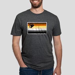 Bear Pride Flag Mens Tri-blend T-Shirt
