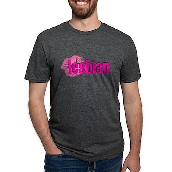 Lipstick Lesbian Mens Tri-blend T-Shirt