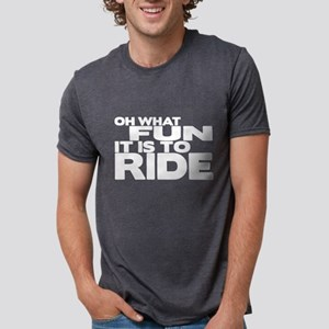Oh What Fun It Is to Ride Mens Tri-blend T-Shirt