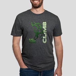 Eat Sleep Climb Mens Tri-blend T-Shirt