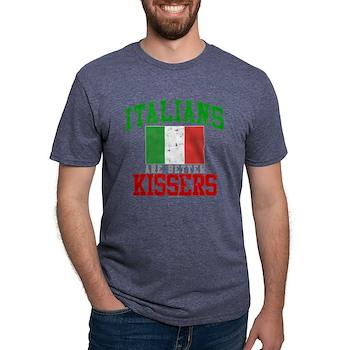 Italians Are Better Kissers Mens Tri-blend T-Shirt