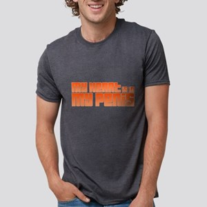 My Heart Is In My Penis Mens Tri-blend T-Shirt