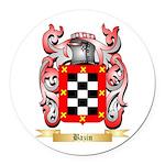 Bazin Round Car Magnet