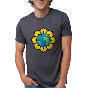 Blooming Earth Mens Tri-blend T-Shirt
