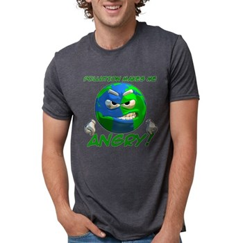 Pollution Makes Me Angry! Mens Tri-blend T-Shirt