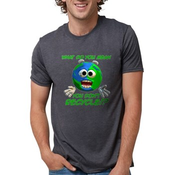 What... you don't recycle? Mens Tri-blend T-Shirt