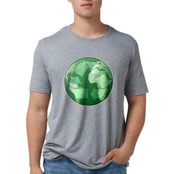 Green Earth - Recycle Mens Tri-blend T-Shirt