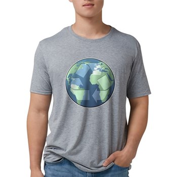 Planet Earth - Recycle Mens Tri-blend T-Shirt
