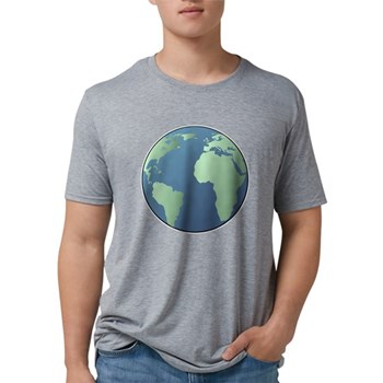 Planet Earth Mens Tri-blend T-Shirt