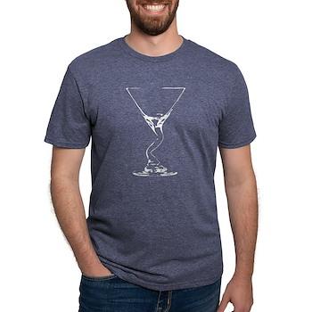 Bent Martini Glass Mens Tri-blend T-Shirt