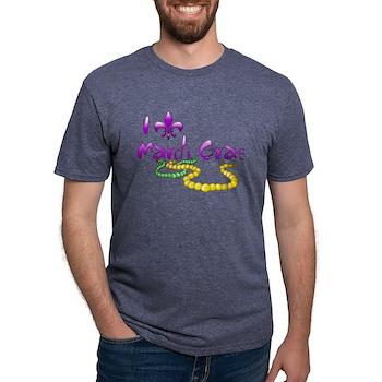 I Fleur-de-Lis Mardi Gras Mens Tri-blend T-Shirt