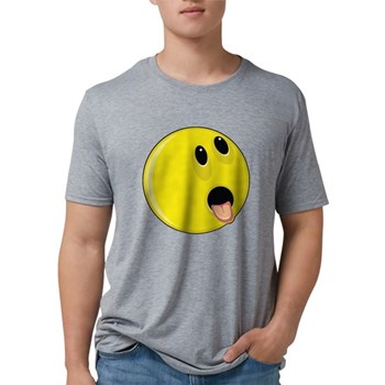 Smiley Face - Hungry Mens Tri-blend T-Shirt