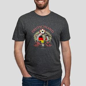 Deutschland Soccer Mens Tri-blend T-Shirt