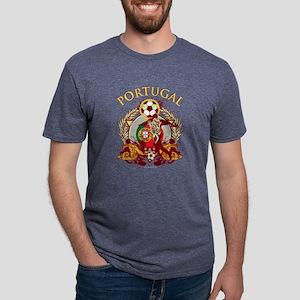 Portugal Soccer Mens Tri-blend T-Shirt