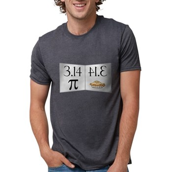 PI 3.14 Reflected as PIE Mens Tri-blend T-Shirt