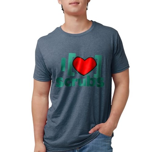 I Heart Scrubs Mens Tri-blend T-Shirt