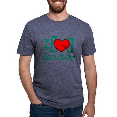 I Heart Janitor Mens Tri-blend T-Shirt