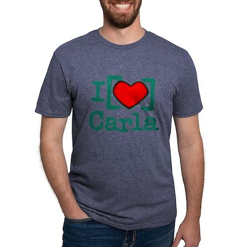 I Heart Carla Mens Tri-blend T-Shirt