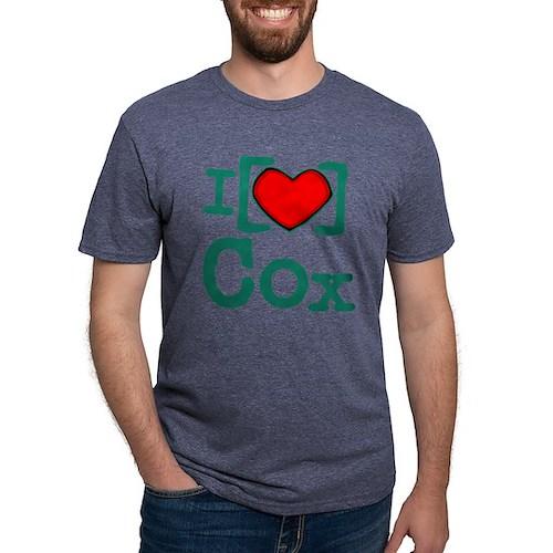 I Heart Cox Mens Tri-blend T-Shirt