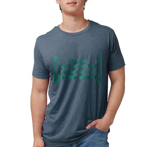 Big Spoon, Little Spoon Mens Tri-blend T-Shirt