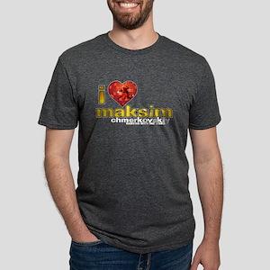 I Heart Maksim Chmerkovskiy Mens Tri-blend T-Shirt