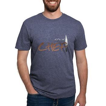 Orange Sous Chef Mens Tri-blend T-Shirt