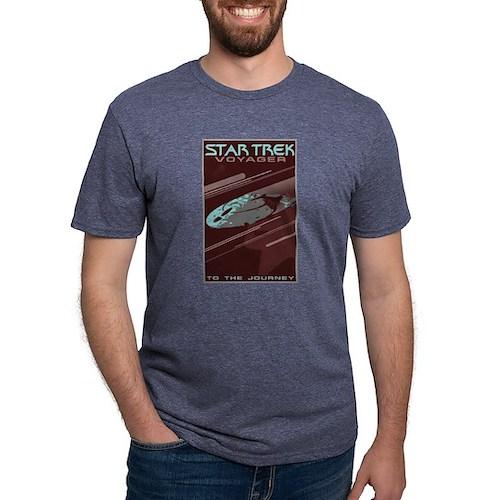 Retro Star Trek:VOY Poster Mens Tri-blend T-Shirt