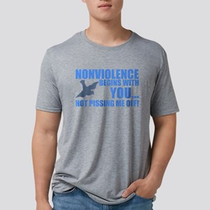 Nonviolence Begins with You.. Mens Tri-blend T-Shi