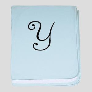 A Yummy Apology Monogram Y baby blanket