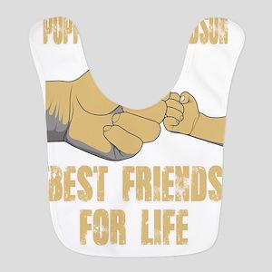 POPPOP AND GRANDSON BEST FRIEND Polyester Baby Bib