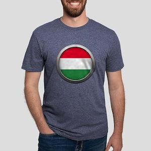 Round Flag - Hungary Mens Tri-blend T-Shirt